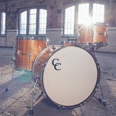 C & C drums in a nice studio loft setting at mid day... Imagine the sound bouncing off those high walls! Great for any DRUMMER DRUMMING! #cSw:) - Photo pinned via Enoch Rich.