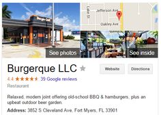 Burgerque in Fort Myers - even though my fictional character got the burger shot out of his hand, both Snake and Ty highly recommend this place!
