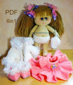 Knitting Pattern Doll #knittingpattern #knitteddoll #amigurumipattern