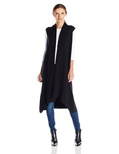 Calvin Klein Women's S/l Duster Flyaway Vest, Black, X-Small Fall Winter Outfits, Autumn Winter Fashion, Winter Style, Fall Fashion, Sleeveless Duster, Long Vests, Clothes For Women, Women's Clothes, Summer Clothes