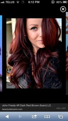 dark red hair.@Allison Hall - too much?? or good?