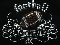 football mom rhinestone iron on transfer  9 by 7 by loveforbling, $5.49