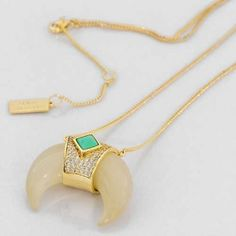 Melanie Auld Jeweled Tusk Necklace from Sage Accessories
