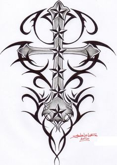 If you are looking for nautical star tattoo designs and meaning. Here we have amazing nautical star tattoo designs and ideas for men and women with meanings Tribal Cross Tattoos, Nautical Star Tattoos, Small Star Tattoos, Cool Tattoos, Awesome Tattoos, Star Tattoo Designs, Tattoo Designs And Meanings, Cross Drawing, Black Ink Art