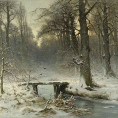 Louis Apol winter landscape. Lines and Colors: http://linesandcolors.com/2015/01/19/eye-candy-for-today-louis-apol-winter-landscape/