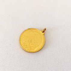 Vintage Gold Plated Two Side Eagle Charm by wandajewelry2013