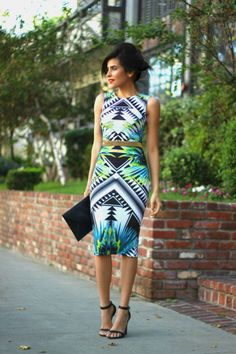 Our girl, Sazan, wearing a dress from the Kardashian collection. #fashion #blogger #bloggerstyle