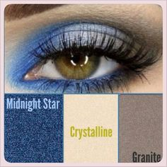 Easy Evening Look ~ Mineral Eye Colors in Midnight Star, Crystalline and Granite. Complete wi/Mary Kay Eyeliner in Black and Mary Kay Love Lash Mascara in I Black. Mary Kay Eyeshadow, Mary Kay Makeup, Make Up Looks, Maquillage Mary Kay, Eyeshadow Designs, Imagenes Mary Kay, Selling Mary Kay, Mary Kay Ash, Mary Kay Cosmetics