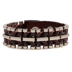 Aliexpress.com: Comprar Nueva Pulsera de Cuero de Moda de Ocio de acero de Titanio Encanto Hecho A Mano Pulsera de Los Hombres del Estilo Retro Pulseras YWQR2262 de leather bracelet fiable proveedores en Shop1850589 Store