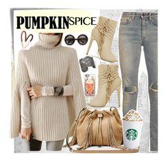 """""""pumpkin spice"""" by katymill ❤ liked on Polyvore featuring Post-It, Yves Saint Laurent, ZeroUV, Diane Von Furstenberg, Casetify and Aurélie Bidermann"""