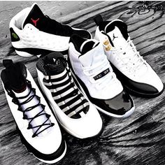 Black & White Air Jordans