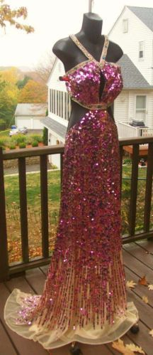 Sherri Hill PINK PURPLE PROM GREAT GATSBY RAORING 20s INSPIRED BLING DRESS