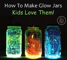 How To Make Glow Jars Kids Will Love...http://homestead-and-survival.com/how-to-make-glow-kids-will-love/