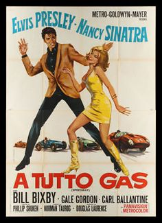 SPEEDWAY * MOVIE POSTER ELVIS PRESLEY CAR AUTO GARAGE