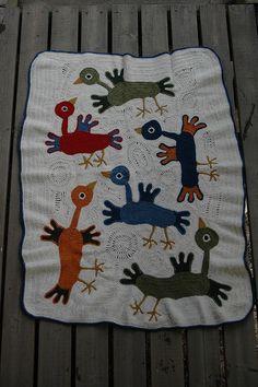 Freeform crochet blanket free pattern