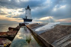"""""""Winters End""""  Ludington North Breakwater Lighthouse"""
