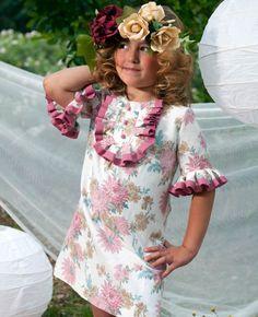 Vestido estampado con manga francesa