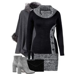Sweater Dress & Cape by majezy on Polyvore featuring мода, Venus, Rebecca Minkoff and Oscar de la Renta