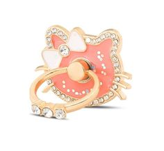 Pink Cat iPhone Ring Stand W/Rhinestone Ring Stand - Samsung Ring Holder -iPhone Ring Case - iPhone Ring Case, Finger Ring - Phone Holder by PetrichorCases on Etsy Ring Stand, Pink Cat, Ring Finger, Phone Holder, New Product, Phone Accessories, Cool Pictures, Smartphone, Iphone Cases