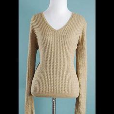 JEAN PIERRE Beige Long Sleeve Sweater Size Medium JEAN PIERRE Beige Long Sleeve Sweater Size Medium Jean pierre Sweaters Crew & Scoop Necks