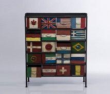 british pop, union jack, flags, canada, america, denmark, brazil, switzerland, germany, italy, france, japan, finland, drawers, furniture, decorating, modern patchwork