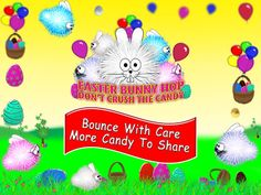 Easter Bunny Hop - Don't Crush The Candy is bouncing up the charts. Free download now available - can you beat the kids though?