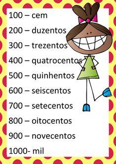 Cartaz dos números EM PDF | Atividades Pedagogica Suzano Jean Piaget, Banner, Knowledge, Homeschool, Teaching, Maths, Number Posters, Alphabet, Teaching Math