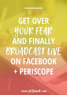 If you've been thinking about creating video content on Facebook Live or Periscope but the idea of broadcasting live is just plain scary, this post is for you! Here's what to share, how to share it, and a few tips for going live without wanting to throw up every time.
