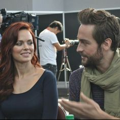"""Katia Winter and Tom Mison from the TV Show """"Sleepy Hollow""""."""