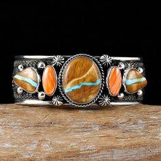 "GUY HOSKIE ""Royston Ribbon"" Turquoise Bracelet  Sterling Silver Navajo"