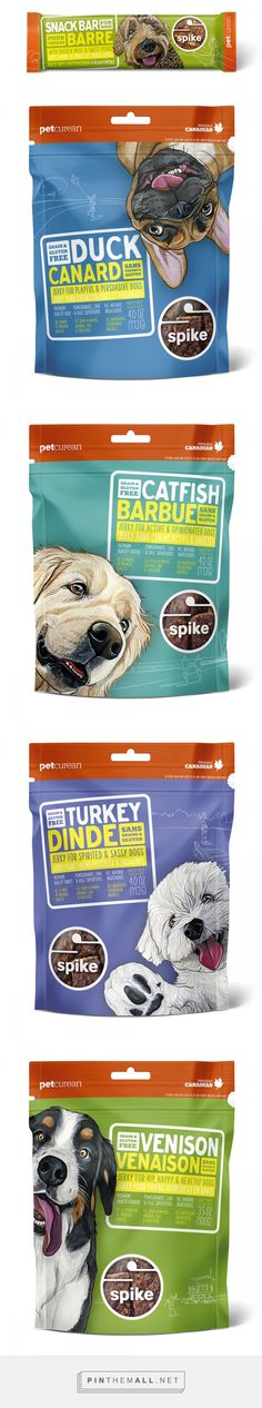 Editorial and Commercial Gallery   Art by Manda curated by Packaging Diva PD. Petcurean Spike treat packaging.