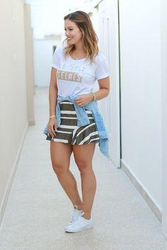 juliana goes | juliana goes blog | look do dia | camiseta e saia | look com tênis