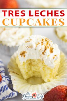 A classic Mexican dessert, Tres Leches Cake, goes single sized in these Tres Leches Cupcakes. Light and fluffy cupcakes infused with three creamy milks and topped with mascarpone frosting. Tres Leches Cupcakes make a Latin American favorite more fun. Super soft, fluffy vanilla cupcakes are poked with a fork and then soaked in a milk mixture with evaporated milk, sweetened condensed milk, and cream.   the Gracious Wife @thegraciouswife #treslechescupcakes #mexicandessertrecipes #thegraciouswife Fluffy Cupcakes, Lemon Cupcakes, Vanilla Cupcakes, Evaporated Milk, Condensed Milk, Cupcake Recipes, Cupcake Cakes, Tres Leches Cupcakes, Whipped Cream Cheese Frosting