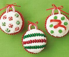 Cupcakes Esferas Navideas