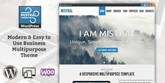Mistral - Modern & Easy to Use Business Multipurpose Theme by NebulaWP About Mistral Mistral is a modern premium template created for companies, but thanks to the wide customizatios, it is adaptable to