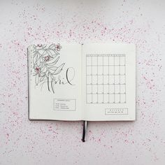 """1,485 Likes, 18 Comments - Federica (@feebujo) on Instagram: """"My Bullet Journal is ready for April, and yours? ⭐️ #BulletJournalMonthlyLog"""""""