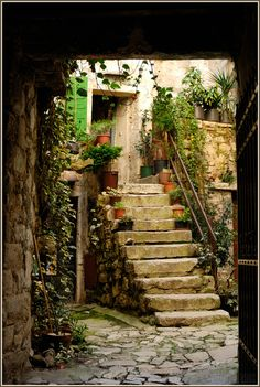This is in Croatia, but similar styles could be found locally. This kind of rustic elegance feels like home, and yet inspires a desire to travel.