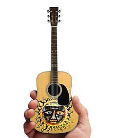 Sublime Large Sun Logo Mini Acoustic Guitar Replica