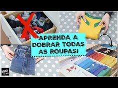 COMO DOBRAR AS ROUPAS? DICAS E TÉCNICAS DE DOBRAS | Organize sem Frescuras! - YouTube