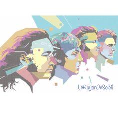 The Beatles cross stitch pattern side face Pop by LeRayonDeSoleil