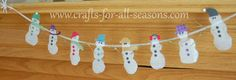 These little snowman are made out of regular white school glue! Learn how at Crafts For All Seasons.