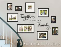 Gallery wall Quotes - Wall Decal Quote Together We Make a Family Vinyl Wall Decal Decor Removable Wall Decal Family Wall Decal Perfect Wedding Gift. Wall Stickers Quotes, Vinyl Wall Decals, Vinyl Wall Quotes, Photo Wall Stickers, Tree Decals, Family Wall Decor, Living Room Decor, Family Wall Quotes, Family Tree Wall