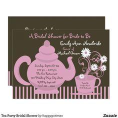 Tea Party Bridal Shower Card