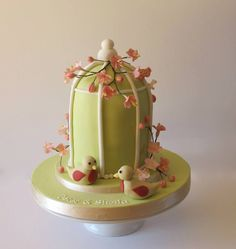 Cherry blossom birdcage - by Aleshia Harrison: for the love of cakes @ CakesDecor.com - cake decorating website