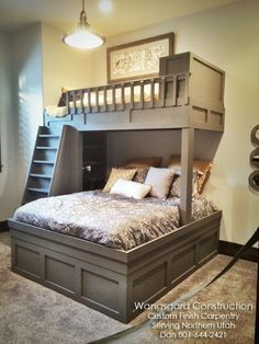 The only thing I don't like is that post holding up the loft. I think I would extend the loft a bit and make the support a bookshelf like it is on the left side.