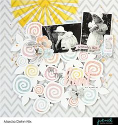 On The Hunt - a scrapbook layout for JustNick Studios using the Cocoa Vanilla Studios More Than Words collection