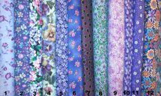 Flowers on Purple Fabric page 1