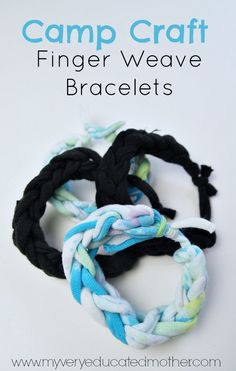 Here's a super easy camp craft to try on your next scouting adventure, finger woven bracelets!