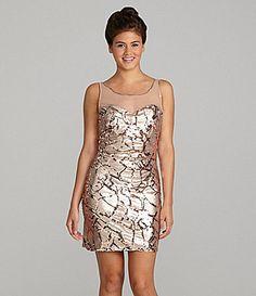 MUST HAVE!! Masquerade Sequin Illusion Dress #Dillards