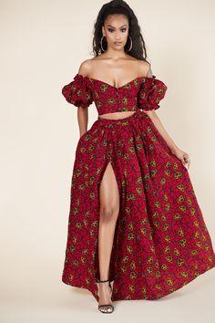 Entari Skirt African Print Tajiri Maxi Skirt